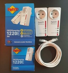 FRITZ!Powerline 1220E Set - Fritz Powerline Gigabit LAN bis zu 1.200 MBit/s