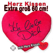 Herz Kissen - Plüschkissen - Kissenherz - Herzkissen Extra 60 cm groß