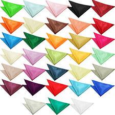 DQT Solid Plain Hanky Handkerchief Formal Mens Accessories FREE Pocket Square