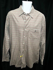 MENS POLO RALPH LAUREN BROWN GREEN RUST PLAID SHIRT SIZE L LARGE