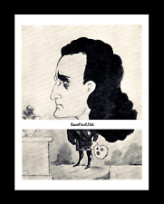 1868-rpt EDWIN BOOTH skull HAMLET Shakespeare Tragedian B'way Caricature MATTED