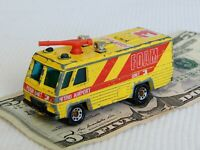 MATCHBOX Metro Airport Foam Monitor Fire Engine Command '80 Diecast Yellow Van