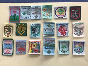 Scouts Australia Waltzing Matilda 5 badge set 1 rare error badge