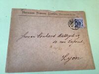 Germany 1892 Leipzig  to Lyon  stamps cover  ref 50529