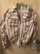 l.a.m.b. jacket black N white size large