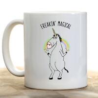 Funny Unicorn Coffee Mug | Freakin Magical Unicorn | Coffee Cup | Unicorn Gift