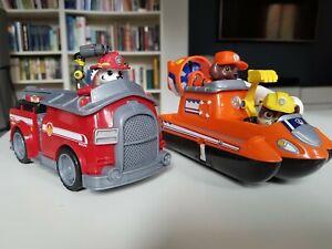 Paw Patrol Fahrzeuge und Figuren, Marshall, Zuma, Rubble