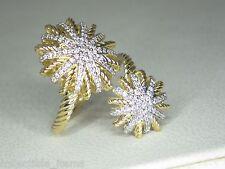 DAVID YURMAN STARBURST OPEN .44 CTTW PAVE DIAMOND 18K YELLOW GOLD RING SIZE 7