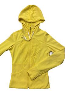 Lululemon Reversible Dance Studio Jacket Yellow/Yellow White Pattern Women's 4