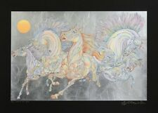 """GUILLAUME AZOULAY """"LEVER DE SOLEIL""""-BLACK SERIGRAPH ON PAPER HAND SIGNED COA"""