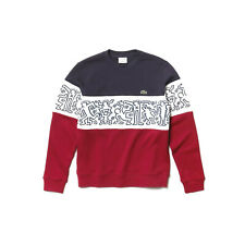 Lacoste x Keith Haring Colorblock French Terry Sweater Red Navy White Men's 5/L