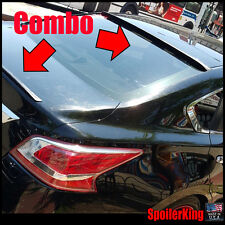 COMBO Rear Roof Wing & Trunk Lip Spoiler (Fits: Nissan Altima 2013-2015 4dr)