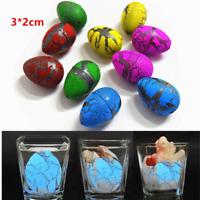 6Pcs Cute Magic Hatching Growing Dinosaur Eggs Novelty Gag Toys For Child Kids E