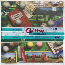 Cleo Golf Gift Wrap 2 Sheets Sealed 1996 Victorian Theme Ladies & Men Vintage