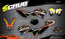 SCRUB KTM graphics decals kit SX SXf 125 144 250 450 '07-'10 stickers 2007-2010