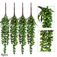 4pcs Artificial Hanging Plants Fake Succulents String of Pearls Party Home Decor