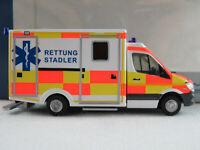 """Rietze 61721 WAS Ambulanzfahrzeug RTW MB Sprinter """"Rettung Stadler"""" 1:87/H0"""