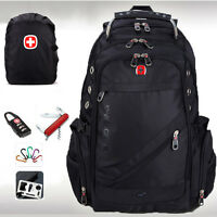 "Swiss Gear Men Waterproof Backpack Travel Bag 15"" 17"" Laptop School Bag Satchel"