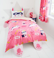Kids Super Bunny Reversible Duvet set and Curtains  by Catherine Lansfield
