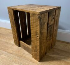 Solid Reclaimed Wood Pallet wood Home Rustic Side Couch Coffee Table / Seat