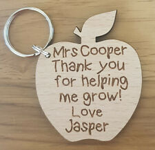 PERSONALISED KEYRING SCHOOL GIFT FOR TEACHER CHRISTMAS GIFTS NURSERY END OF YEAR