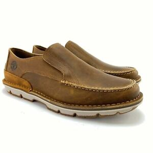 Timberland Men's Coltin Brown Full Grain Leather Slip On Loafers TB0A1A6P Sz 7.5