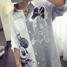 Mickey Mouse Disney Long Bluse Longbluse Hemd Tunika Oversize Gr.36,38,40,42 TOP