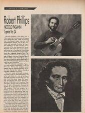 1991 Robert Phillips, Niccolo Paganini Caprice #24 - 6-Page Guitar Article / TAB