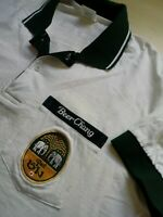Mens Chang Beer White Short Sleeve Polo Shirt Size M