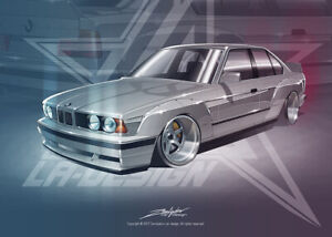 Full Widebody kit for BMW E34 by LA-Design.
