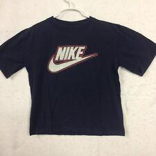 Nike - Boy's T-Shirt - Nike Logo-  Navy Blue - 7 - Cotton  - VG