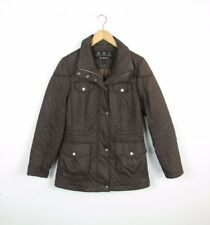 Womens BARBOUR SOFT QUILTED Charlize Brown Outdoors Country Jacket Size UK 10