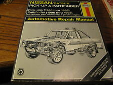 Nissan/Datsun Pick-Up & Pathfinder 1980-96 Haynes Repair Manual #72030   Flat NN