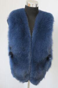 100% Genuine fox fur vest /fur jacket/ fur scarf/ cape/blue collar /shawl