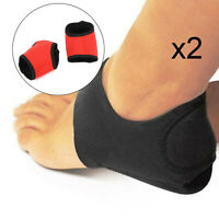 2xHigh Arch Heel Gel Support Plantar Fasciitis Orthotic Insoles Flat Foot Feet