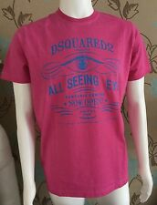 DSQUARED2 PINK ALL SEEING EYE COTTON  T-SHIRT SIZE XXL 42-44inch CHEST BNWT