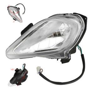 12V Pair LED Left Right Headlight Lamp 150CC-250CC Quad Dirt Bike ATV Motorcycle