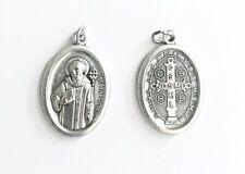St Saint Benedict Medal - Double-Sided / Oxidised Metal