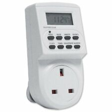 Electronic Digital Mains Plug-in Timer Socket with LCD Display 12/24 Hour 7 Days