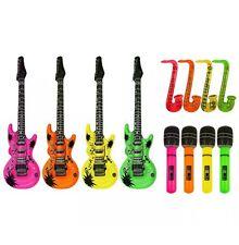 Gonflable Guitare Saxophone Microphone Blow Up Fancy Dress Party Prop Lot Set 3
