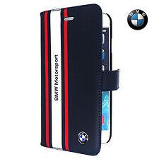 BMW Motorsport Leather Booktype Flip Case for iPhone 6/6S -Dark Blue(BMFLHP6SRN)