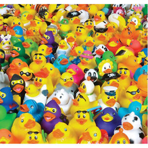 "100 Count - 2"" Rubber Duck Assortment Childrens Party Favor Vending Prize"