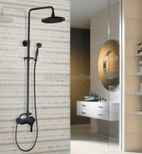 Black Oil Rubbed Brass Bathroom Rainfall Shower Faucet Set Mixer Tap yhg154
