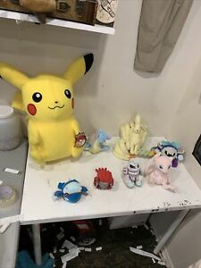 Lot of 8 Pokemon Plush Pokémon Center Tomy Mewtwo & Pikachu & More