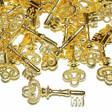 MXL5110p Bright Gold Skeleton Key 32mm Pendant Charm Drop Focal 50pc