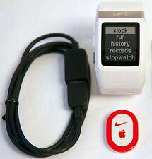 Nike+ Plus Foot Sensor Pod GPS Sport Watch WHITE/Silver TomTom fitness runner -C
