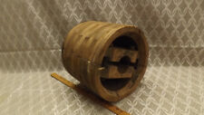 "Antique Wooden 12"" x 10"" Flat Wheel Pulley Hit Miss Tractor Steampunk Repurpose"