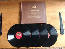 "BOOK SET 4 12"" 78s HMV D.B.1731-4 Tchaikovsky ""Concerto No.1 in B flat minor"""