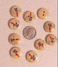 "Lot of 20 RAINBOW SPIRAL 2-hole White Wood Buttons 5//8/"" Craft 102 15mm"