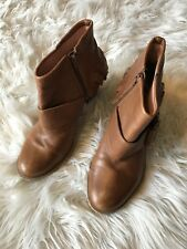 EUC Miss Albright Anthropologie Brown Leather Booties Sz 6